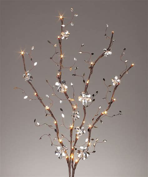 Light Up Branches by Brown Mirror Light Up Large Branch Set Of Two