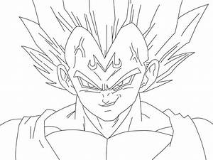 Majin Vegeta - Free Coloring Pages
