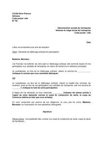 Deblocage Assurance Vie by Lettre Demandant Le Rachat Dune