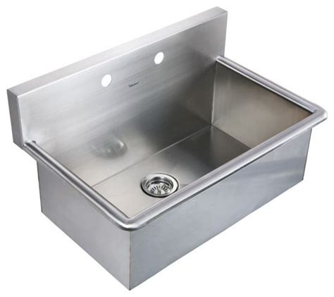 stainless steel drop in utility sink whitehaus whnc3120 31 quot noah stainless steel laundry