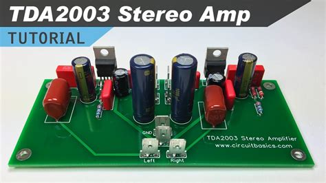 tda stereo amplifier design tutorial youtube