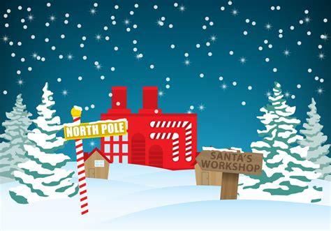 Santa S Workshop Wallpaper Animated - santas workshop vector free vector stock