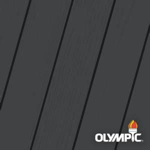 olympic maximum  gal ebony solid color exterior stain