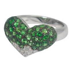 United States Ring Size Chart Chatila Heart Ring In Diamonds And Tsavorites From Plaza