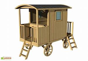 Maison Pour Enfant En Bois : maison roulotte bois pour enfant carry soulet ~ Premium-room.com Idées de Décoration