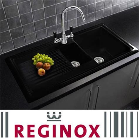 black ceramic kitchen sinks reginox traditional black ceramic 1 5 kitchen sink and 4659