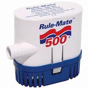 Rule U00ae Bilge Pump 500 Gph 12v Non-auto