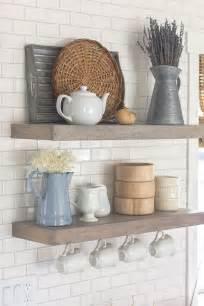 shelves in kitchen ideas best 25 floating shelves kitchen ideas on