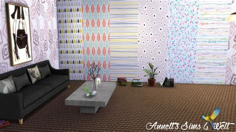 Modern wallpapers at Annett?s Sims 4 Welt » Sims 4 Updates