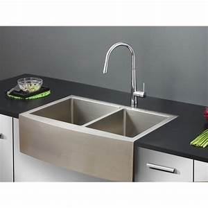 ruvati rvh9201 verona stainless steel apron front double With apron kitchen sink