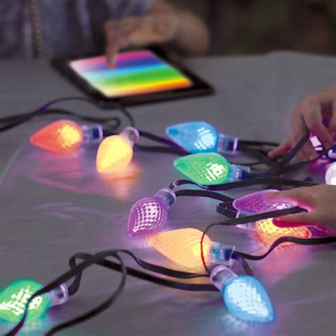 app controlled string lights lumenplay interactive app controlled string lights 16