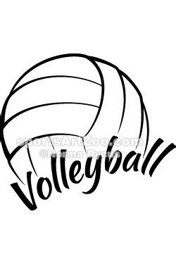 Volleyball with Fun Text | Volleyball clipart, Volleyball