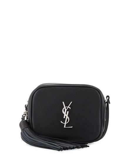 saint laurent monogram blogger crossbody bag black noir