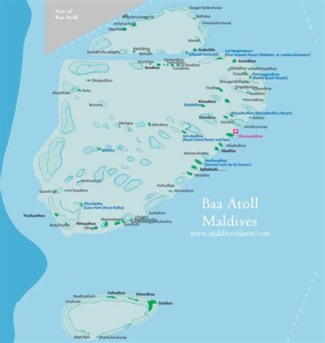 Maldives Map With Resorts Airports And Local Islands 2019