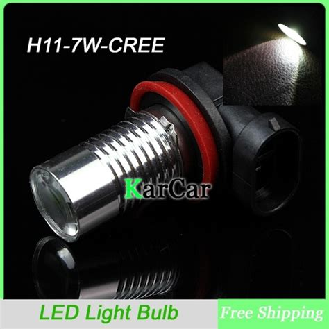 7w high power h11 cree led light with lens car fog light