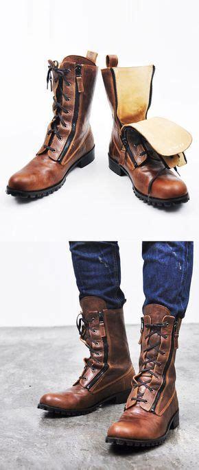 Runway Zippered Vintage Brown Raven Boots Shoes Men