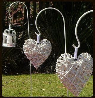 wicker hearts decoration budget wedding wedding hire gold