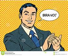Man Applause Bravo Concept Of Success Stock Vector - Image ...
