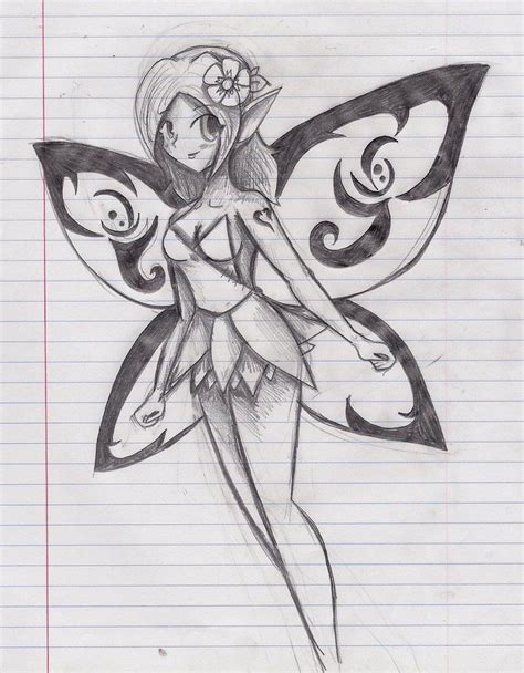 easy beautiful fairy drawings  pencil images fairy