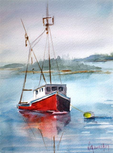 Watercolor Boat by Nita L 233 Ger Casey