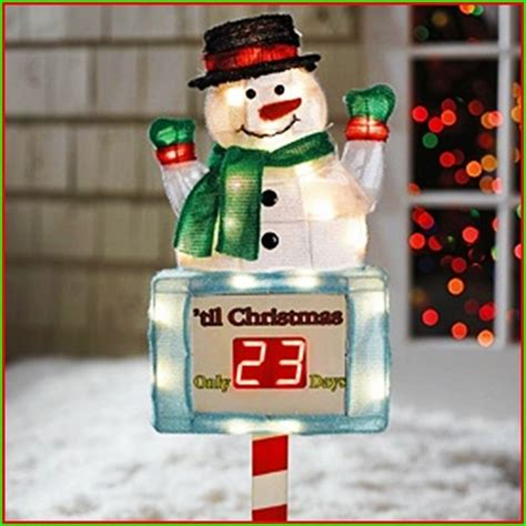 snowman countdown  christmas outdoor lighted stake