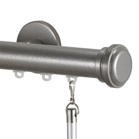 one way decorative traverse curtain rods tekno 25 decorative 132 in traverse rod in antique silver