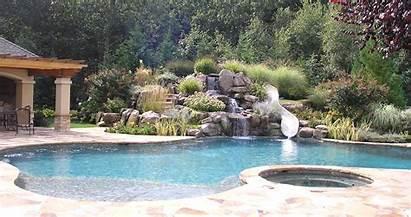 Pool Slides Waterfalls