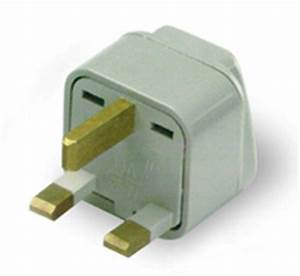 Grounded adapter plug Great Britain/Africa