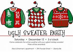ugly sweater christmas party invitations template best With ugly sweater christmas party invitations template