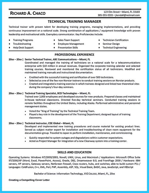 brilliant corporate trainer resume samples   job