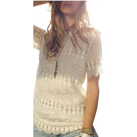 summer blouse summer style blouses black white crochet lace