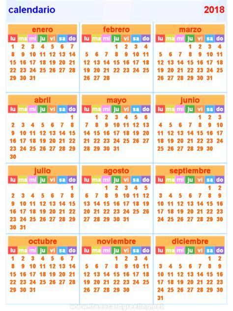 calendario horizontal vertical