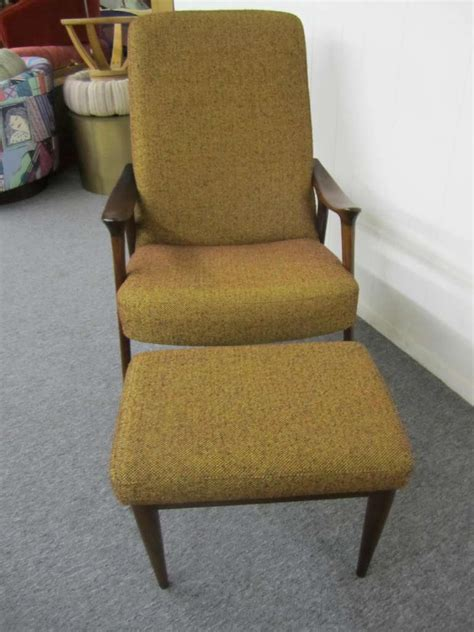 modern lounge chair with ottoman danish modern scoop arm walnut lounge chair with