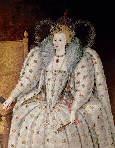 queen elizabeth i of england and ireland painting by anonymous