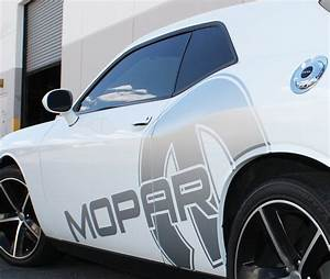 Dodge Challenger 08-14 Black Vinyl Mopar Graphics for Both