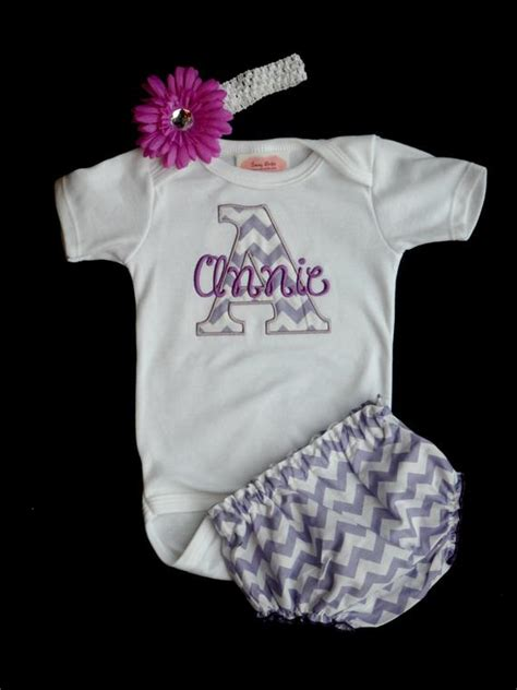 items similar  chevron personalized baby girl clothes newborn girl  home outfit bodysuit