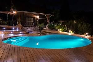 Eclairage Piscine Bois : piscines en kit les formes libres gagnent sur tous les ~ Edinachiropracticcenter.com Idées de Décoration