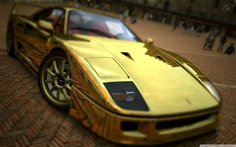 ferrari  gold  hd desktop wallpaper   ultra hd