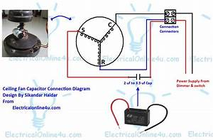 Ceiling Fand Wiring Diagrams For Fan Wiring Diagram With Capacitor