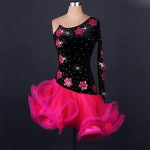 Pas cher robe de danse latine femmes filles pour salecha for Robe salsa pas cher