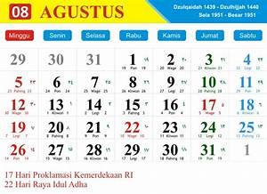 kalender bulan agustus 2018 dan pasaran jawa hijriyah With 2017 september 1 2018 agustus 31