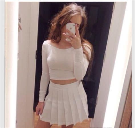 Skirt: white, white skirt, fashion, girly, outfit, pleats
