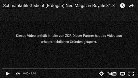 """Es gibt mit mediathekwebview ein praktisches tool, mit dem sie videos auf. """"Entspricht nicht den Ansprüchen"""" - ZDF löscht Böhmermann ..."""