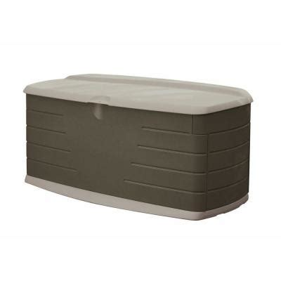Rubbermaid Deck Box Home Hardware rubbermaid 90 gal large deck box with seat fg5f2200olvss