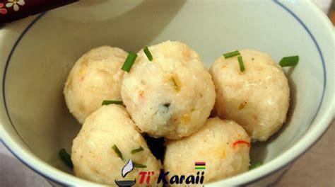 recette de cuisine mauricienne boulette de poisson chinois