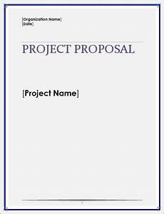 Simple Project Proposal Template Business Proposal