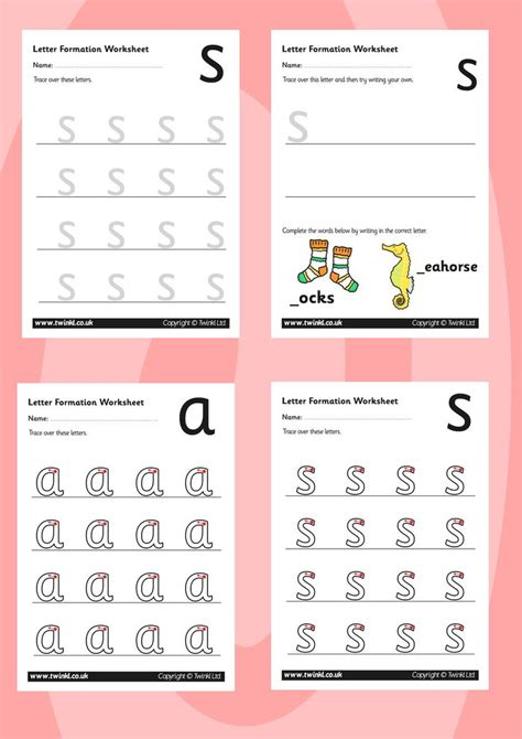 phonics worksheets twinkl twinkl resources gt gt phase 2 letter formation worksheets