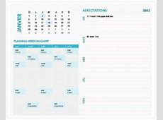 modele word planning hebdomadaire CCMR