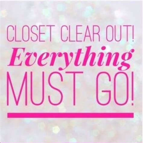 Closet Sale by Closet Clean Out Sale Os From S Closet On Poshmark