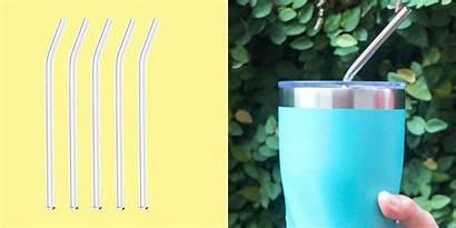 Straws Reusable Glass Silicone Metal Bamboo